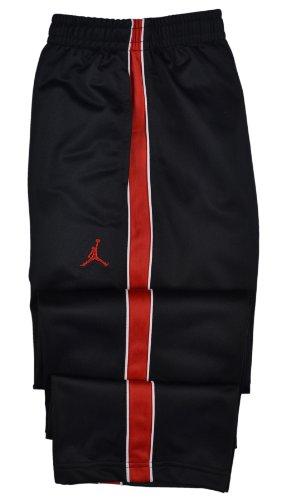 Jordan Boys Nike Jumpman Athletic Training Pants-Black/Red-Medium