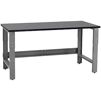 Trinity Tls 7202 Wood Top Work Table 72 Quot X 19 Quot Black