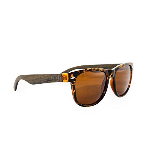 Polarized Sunglasses By Dulce | Handmade Rose Wood Tortoise, UAV UAB Protective
