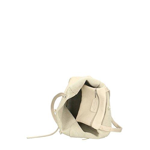 en Beige Cm Made Mujer in Italy 27x33x13 genuino cuero hombro bolsa de Aren w7PqZIw