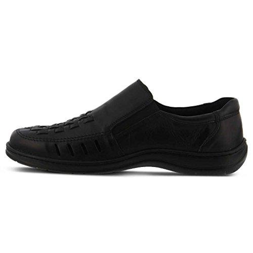 Våren Steg Mens Davide Slip-on Svart Läder