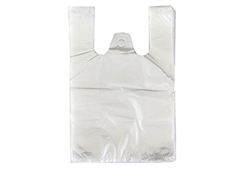 100PCS Transparent Plastic Bags Vest Style Carrier bags for Food Shopping Supermarket Household Two-sided Storage Bags (8.7