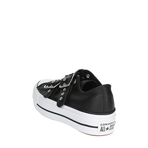 Ox Femme black black Noir Lift 001 Converse Buckle Basses white Chuck Sneakers Taylor Ctas 8xFnwPUnXq