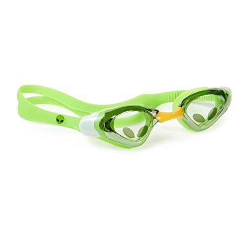 [Swimming Goggles For Boys - Alien Kids Swim Goggles By Bling2o (Green Gravity)] (Google Glass Costume)