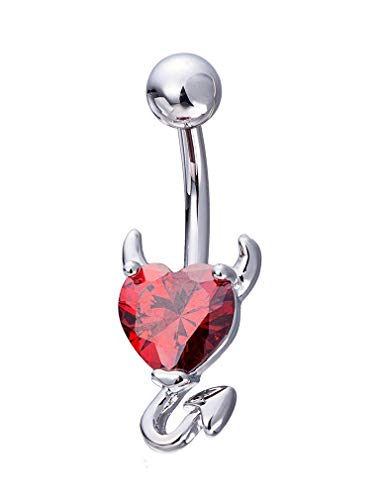 CEYIYA Personalized Belly Button Rings - Surgical Steel Navel Rings Ideal Gift for Women/Men/Girls,Fashion Belly Piercing Jewelry