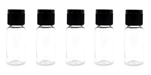 30PCS 15ml 0.51oz Empty Reusable Clear Plastic Sample Bottle With Black Flip Cap Travel Vial Jar Pot Container For Cosmetic Case Emollient Water Liquid Shower Gel Face Cream Emulsion Hand Lotion