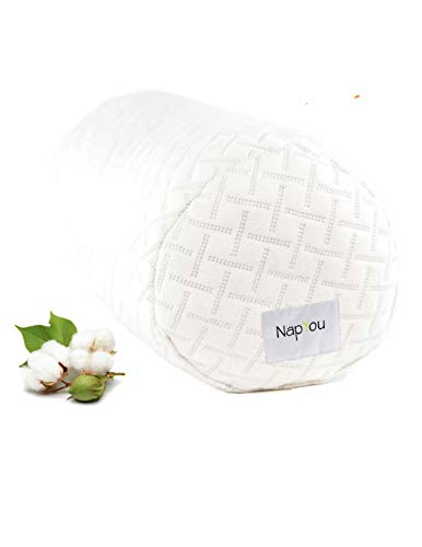 NapYou Official Amazon Exclusive Shredded Certipur Memory Foam Neck & Cervical Bolster Pillow with Unique and Luxury Pillow Design for Ultimate Breathability and Density Made with Organic Cotton