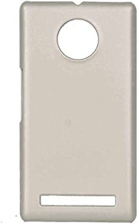 COVERNEW Plastic Back Cover for YU Yuphoria YU5010 Silver HBackYuphoriaYU 5010 Silver Mobile Accessories