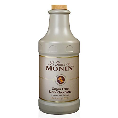 Monin - Sugar Free Dark Chocolate Sauce, Velvety and Rich, Great for Desserts, Coffee, and Snacks, Gluten-Free (64 Ounce)