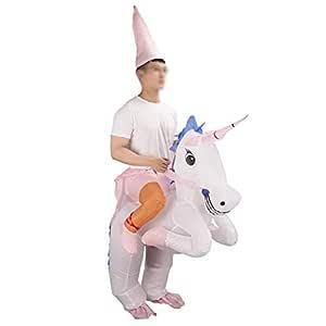 ShiyiUP Disfraces Inflable de Unicornio Traje Hinchable para Halloween