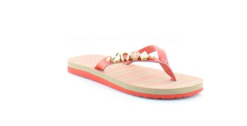 Tory Burch Kiley Women's Sandals & Flip Flops Poppy Coral Size 5 - Tory 5 Burch Size