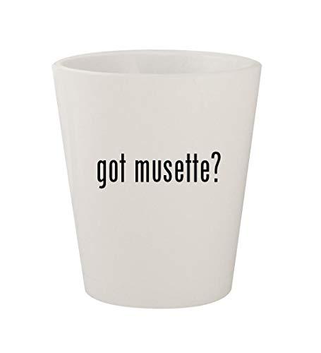 got musette? - Ceramic White 1.5oz Shot Glass -