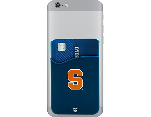 Syracuse Orange Adhesive Silicone Cell Phone Wallet/Card Holder for iPhone, Android, Samsung Galaxy, Most Smartphones