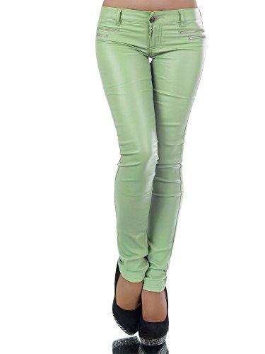Diva-Jeans - Jeans - Skinny - Uni - Femme Vert Clair