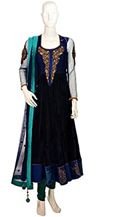 Sanskriti Blue Festive Anarkali Set For Women
