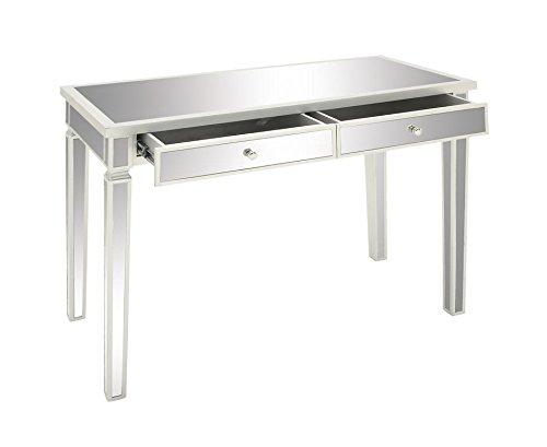 Deco 79 48677 Wood Vanity Desk Mirror, 42'W/20'D/30'H