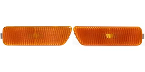 (DAT AUTO PARTS Front Side Marker Light Lens and HOUSING Side of Bumper Set of Two Replacement for 99-06 Volkswagen Golf 06-07 Volkswagen GTI VW2550104 VW2551104 Left Driver Right Passenger Side Pair)