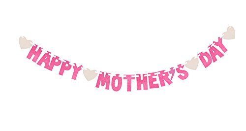 KissDate 3 Meters Happy Mother'S Day Glitter Banner,