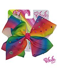 JoJo Siwa Signature Collection Hair Bow with All-Over - Multicolored Rhinestones in - For To For Things Mom Make Christmas