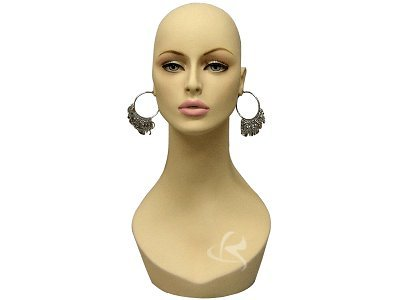 (MD-HelenF1) Realistic Female Mannequin Head Flesh Tone Pretty make-up by RoxyDisplay