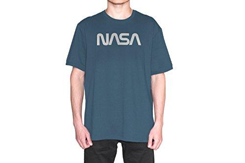Revel Shore Mens Retro Vintage NASA Worm Logo Premium Soft T-Shirt