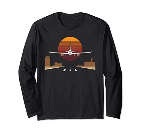 Pilot Airplane Aviation Long Sleeve T-Shirt Gift For -