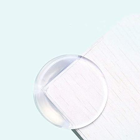 Eckenschutz und Kantenschutz transparent aus Kunststoff f/ür Tisch 12 St/ück, Rund Sto/ßschutz f/ür Babys und Kinder und M/öbel-Ecken