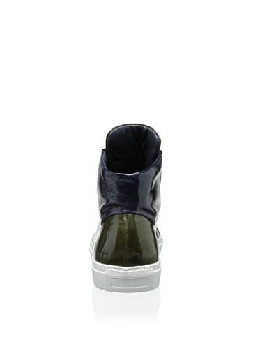 Luomo Generico Sneaker Da Uomo Sportivo In Pelle Metallizzata, Verde / Blu, 11 M Us.