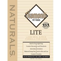 Diamond Naturals Dry Food for Adult Dogs, Lite Lamb and Rice Formula, 30 Pound Bag, My Pet Supplies