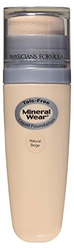 Physicians Formula Mineral Wear Talc-Free Mineral Liquid Foundation, Natural Beige, 1 Ounce