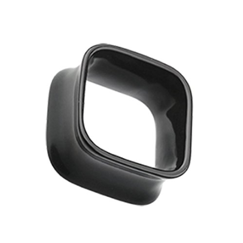Square Tunnel Double Flared Ear Gauge Freedom Fashion Plug (Sold by Pair) (1/2