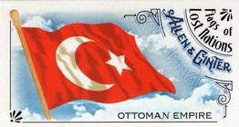2018 Allen and Ginter Mini Flags of Lost Nations #FLN-24 Ottoman Empire Baseball Card NM-MT