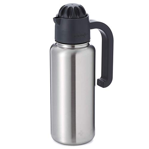 - the flow Insulated Water Bottle Large 32oz Stainless Steel Hydro Vacuum Flask with Leakproof Straw Lid/Pitcher//Coffee Flip/Carabiner, Double Wall Travel Iron Metal Modern Tumbler for Hot/Cold Drink
