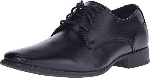 Calvin Klein Men's Brodie Burnished dress Calf Oxford, black, 12 W US Black Calf Leather Oxford