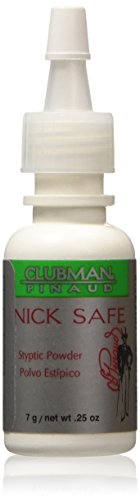 Clubman Nick Safe Styptic Powder Bottle 0.25 oz