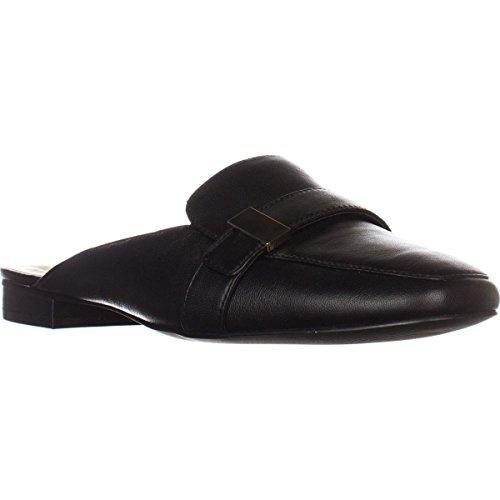 Alfani Black Mules Womens Leather Square Aidaa Leather Toe p1f7npx