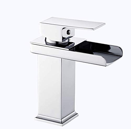 Copper washbasin Waterfall Basin Faucet gold Single Hole hot and Cold Water Faucet Above Counter Basin wash Basin Bathroom