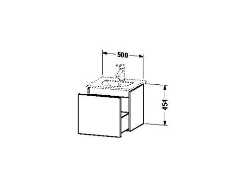 Duravit Waschtischunterschrank wandh. Delos 426x500x454mm 1 Auszug, für 049953, weiss hochglanz, DL6