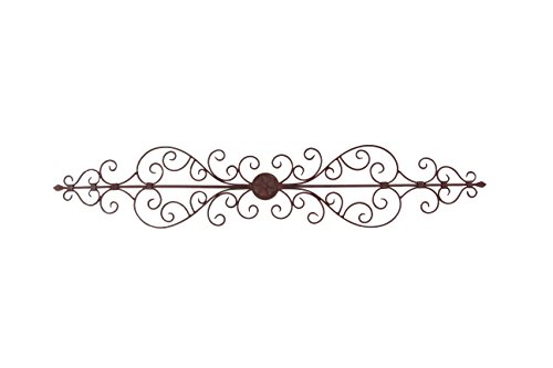 - Deco 79 Rustic Floral and Scrolled Metal Wall Decor, 8
