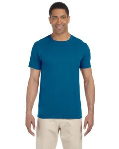 Gildan Men's Softstyle Ringspun T-shirt - Large - Antique - Jersey Polyester Adult
