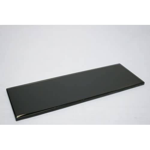 "Black - 4""x12"" Black Glass Tile (3 pieces = 1 Squae Feet, Price for Square Feet) 80%OFF"