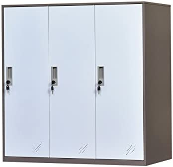 Armario de almacenamiento de oficina de metal de 3 puertas, armario de almacenamiento de bolsa de