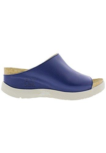 Fly London WIGG672FLY Ladies Wedge Mule Sandals Lead Blue jwhFta