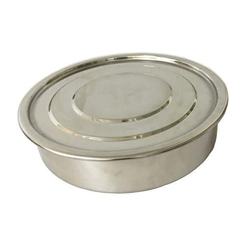 - KimLab ISO3310 STD Test Sieve Stainless Steel Catch Pan/Lid, 200mm Diameter