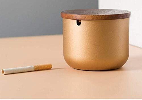 Luckya カバークリエイティブアンチフライアッシュのパーソナリティと蓋ステンレススチール灰皿ホームリビングルームと室内灰皿のための灰皿灰皿