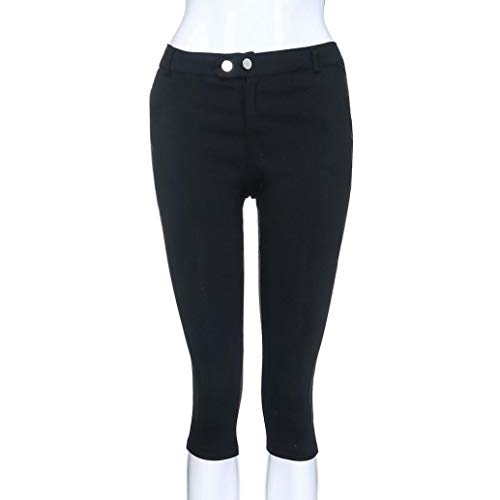 Pantalones Boho Pantalón ASHOP Cordón Leggings Impreso Talla de Negro sólido Jeans Pantalones botón de Grande de Vaqueros Ocio Fitness Cremallera Mujer de Estilo Cintura rSxwR56rq