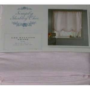 Simply Shabby Chic Faux Silk Balloon Shade - - Shabby Chic Pink Curtains