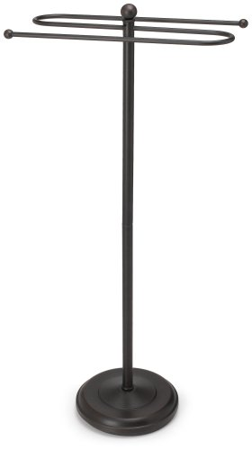 Bronze Valet - Taymor Floor Standing Towel Valet, Coated Oil Rubbed Bronze
