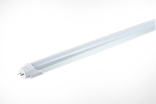 SMART T8 Electronic Ballast Compatible LED Tube (4 ft), Neutral White 4000K, 2035 Lumens, 18 Watts (replaces 32W fluorescent), DLC Qualified Product, UL listed, L70 Lifetime 50,000 hrs, 5 Yr Warranty (Tube Fluorescent Electronic)