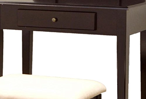Frenchi Home Furnishing 3 Pc Vanity Set in Espresso Finish